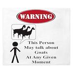 Funny Goat Warning King Duvet