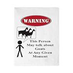Funny Goat Warning Twin Duvet