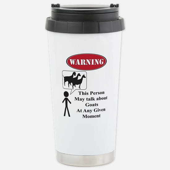 Funny Goat Warning Travel Mug