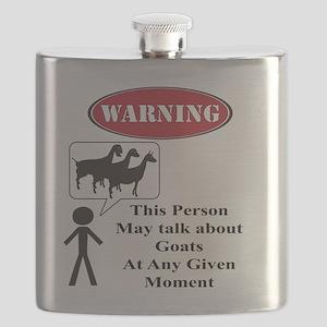 Funny Goat Warning Flask