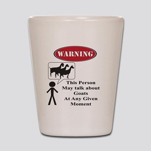 Funny Goat Warning Shot Glass