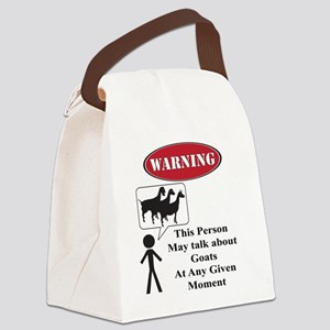 Funny Goat Warning Canvas Lunch Bag