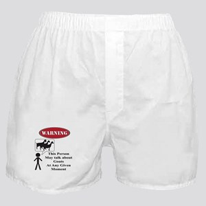Funny Goat Warning Boxer Shorts