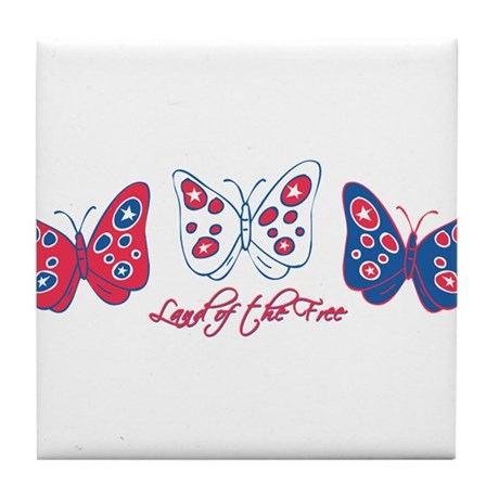 Butterflies Are Free Tile Coaster