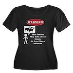 Funny Goat Warning Plus Size T-Shirt
