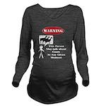 Funny Goat Warning Long Sleeve Maternity T-Shirt