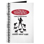 FUNNY Warning Farm Patrolled by Crazy Goat Lady Jo