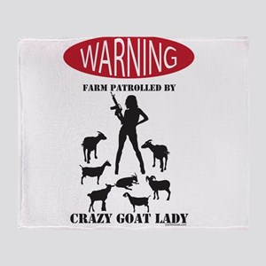 FUNNY Warning Farm Patrolled by Crazy Goat Lady Th