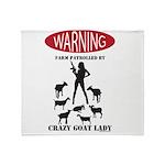 FUNNY Warning Farm Patrolled by Crazy Goat Lady Th