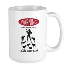 FUNNY Warning Farm Patrolled by Crazy Goat Lady Mu