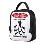 FUNNY Warning Farm Patrolled by Crazy Goat Lady Ne