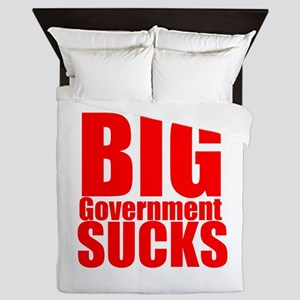 Big Government Sucks Queen Duvet
