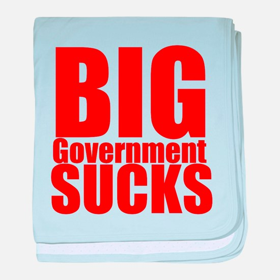 Big Government Sucks baby blanket