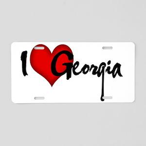 I LOVE GEORGIA Aluminum License Plate