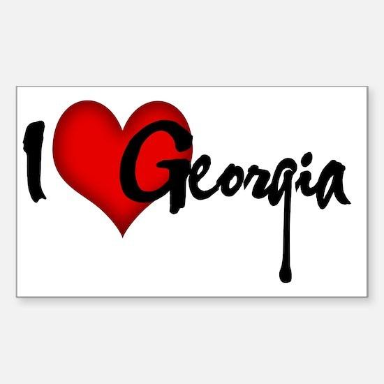 I LOVE GEORGIA Sticker (Rectangle)