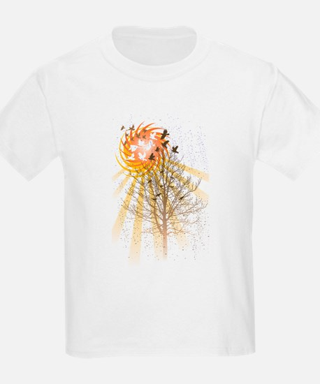 Birds and Tree and Sun T-Shirt
