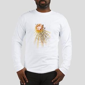Birds and Tree and Sun Long Sleeve T-Shirt