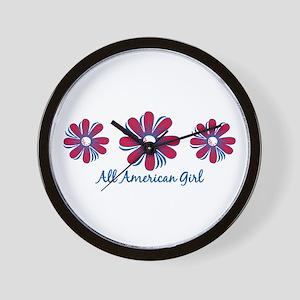 All American Girl Wall Clock