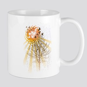 Birds and Tree and Sun Mugs