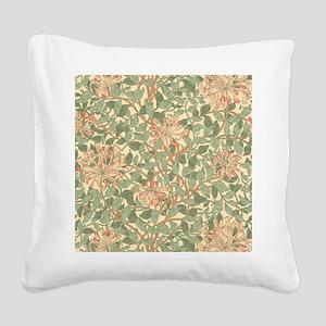 William Morris Honeysuckle Square Canvas Pillow