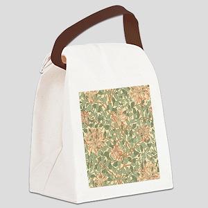 William Morris Honeysuckle Canvas Lunch Bag