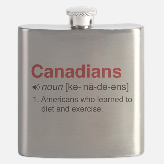 Funny Canadians Definition Flask