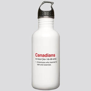 Funny Canadians Definition Water Bottle