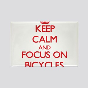 Keep Calm and focus on Bicycles Magnets