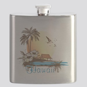 Hawaii beach Flask