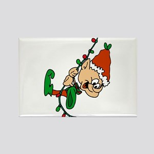 elf swinging on lights Magnets