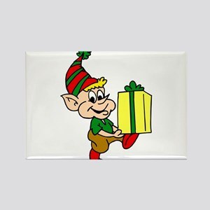 elf with gift Magnets