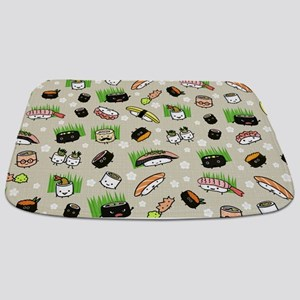 Sushi Characters Pattern Bathmat