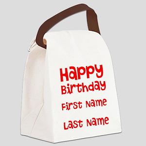 Happy Birthday Canvas Lunch Bag