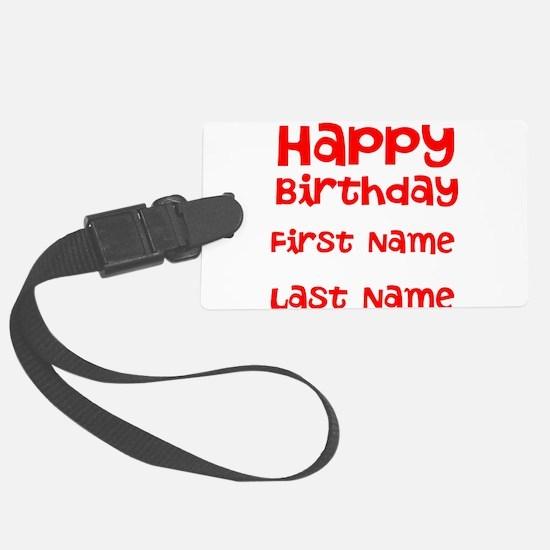 Happy Birthday Luggage Tag