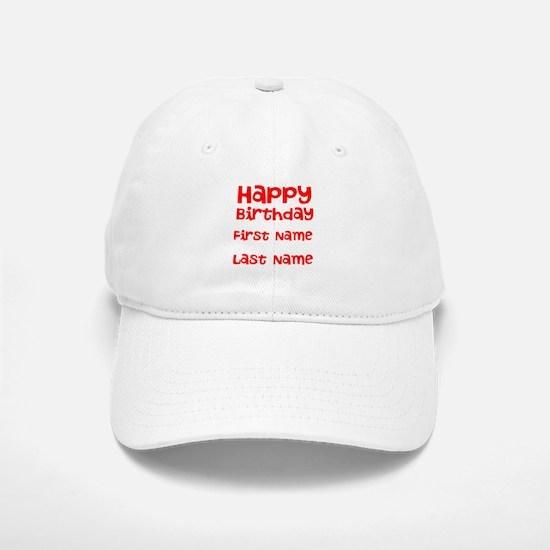 Happy Birthday Baseball Baseball Baseball Cap