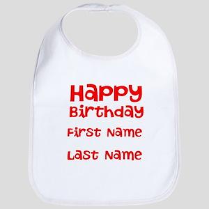 Happy Birthday Aisha Baby Bibs Cafepress
