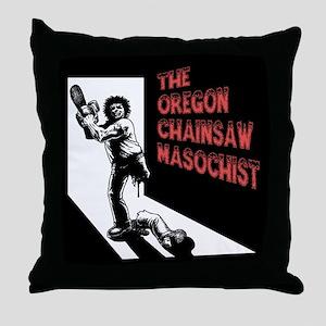 Chainsaw Masochist Throw Pillow