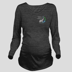 Long Sleeve Maternity T-Shirt W/logo Dark Colors