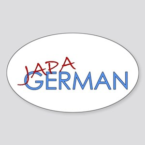 Japagerman Oval Sticker