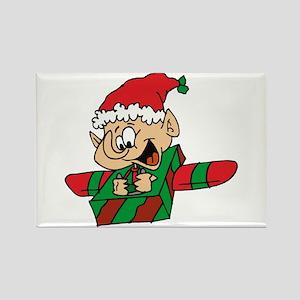 elf flying box plane Magnets