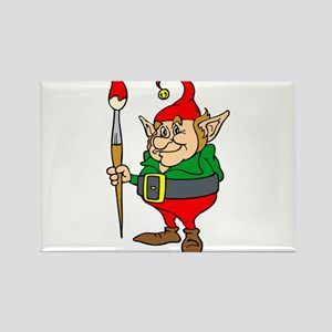 elf with giant paintbrush Magnets