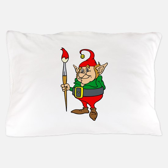 elf with giant paintbrush.png Pillow Case