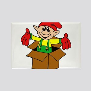 elf in a box Magnets