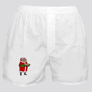 mrs claus with a pie Boxer Shorts