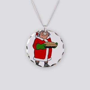 mrs claus with a pie Necklace