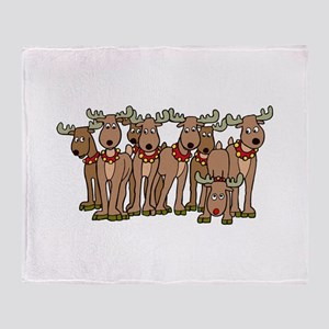 Reindeer Throw Blanket