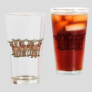 Reindeer Drinking Glass
