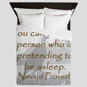 You Cant Wake a Person Queen Duvet