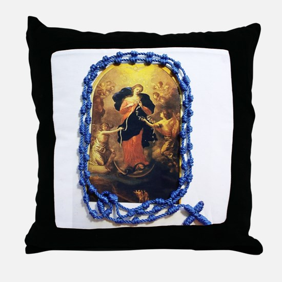 Unique Rosary Throw Pillow