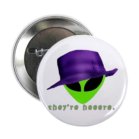"""Aliens They're Heeere 2.25"""" Button (10 pack)"""